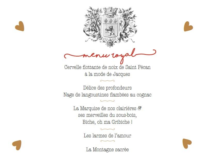 menu princess